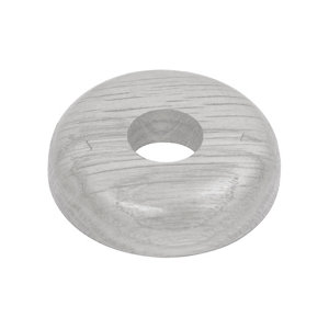 Image of GoodHome DECOR 35 Wooden White Pipe collar (Dia)16mm Pack of 2