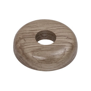 Image of GoodHome DECOR 75 Wooden Grey Pipe collar (Dia)16mm Pack of 2