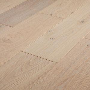 Image of GoodHome Agung Vintage grey Oak Real wood top layer flooring 2.05m² Set