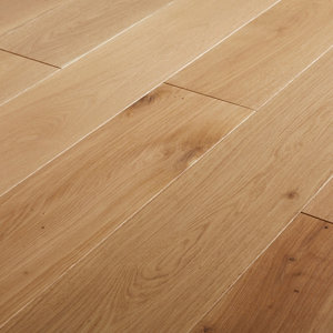 Image of GoodHome Lulea Natural Oak Solid wood flooring 1.26m² Pack