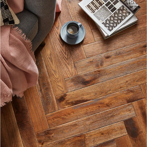 Image of GoodHome Skanor Narrow Oak Solid wood flooring 0.86m² Pack