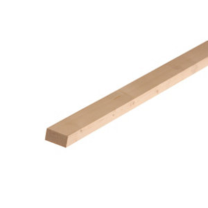 Image of Smooth Planed Square edge Whitewood spruce Timber (L)1.8m (W)34mm (T)18mm