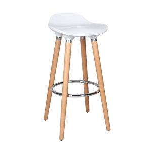 Cooke & Lewis Shira White Bar stool
