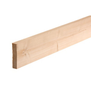 Image of Smooth Planed Square edge Whitewood spruce Timber (L)1.8m (W)94mm (T)18mm
