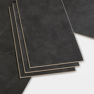 Image of GoodHome Bachata Slate Tile effect Luxury vinyl click flooring 2.6m² Pack