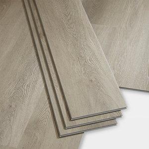 Image of GoodHome Gospel Grey Wood effect Luxury vinyl click flooring 1.95m² Pack