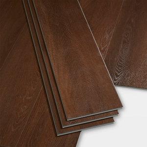Image of GoodHome Gospel Dark Wood effect Luxury vinyl click flooring 1.95m² Pack