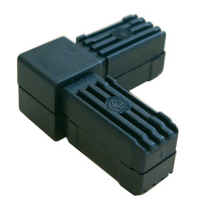 Image of Diall Black Round Tube connector (H)20mm (W)20mm