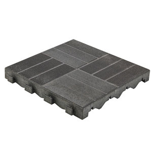 Image of Angara Grey Composite Clippable deck tile (L)0.4m (W)400mm (T)45mm