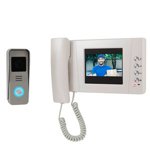 Image of Blyss Wired - 2 wires Video intercom system Silver & white