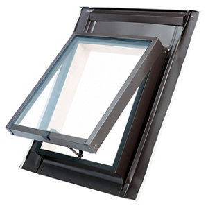 Image of Site Anthracite Aluminium alloy Top hung Skylight (H)550mm (W)450mm