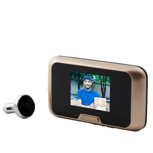 Image of Blyss Wired Video intercom system Black & gold
