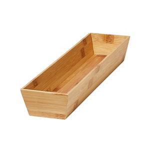 Image of GoodHome Nitaki Bamboo Non adjustable Cutlery tray (H)60mm (W)198mm