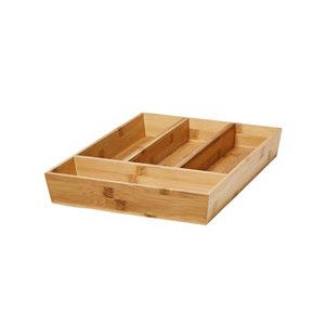 Image of GoodHome Nitaki Bamboo Non-adjustable Cutlery tray (H)60mm (W)314mm