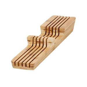 Image of GoodHome Nitaki Bamboo Knife block
