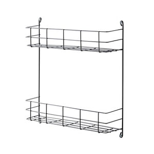 Image of GoodHome Datil 2 tier Anthracite Steel Shelving