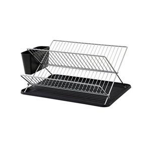 GoodHome Datil Chrome effect X shape Dish drainer rack  (W)460mm