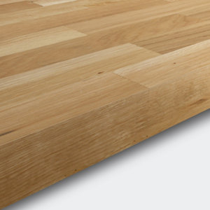 Image of 40mm Hinita Natural Solid oak Square edge Kitchen Worktop (L)3000mm