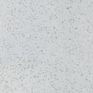 Image of GoodHome Berberis Gloss Sparkle effect White Worktop edging tape (L)3m