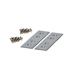 Image of GoodHome Galvanised Steel Jointing plate Pack of 2
