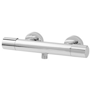 Image of GoodHome Berrow Chrome-plated Wall Shower mixer Tap
