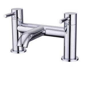 Image of GoodHome Hoffell Chrome-plated Bath Mono mixer Tap
