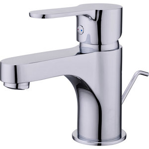 Image of GoodHome Arsuz 1 lever Chrome-plated Contemporary Basin Mono mixer Tap