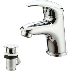 Image of GoodHome Blyth 1 lever Chrome-plated Contemporary Basin Mono mixer Tap