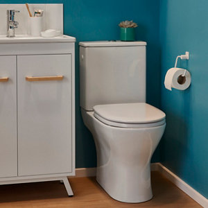 Image of GoodHome Koros White Wall-mounted Toilet roll holder (W)153mm