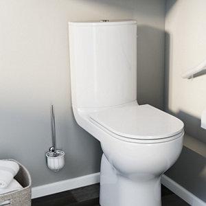 GoodHome Koros White Toilet brush & holder