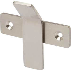 Image of GoodHome Amantea Brushed Stainless steel Hook (H)67mm