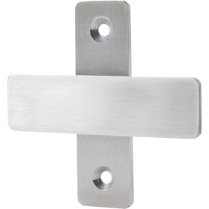 Image of GoodHome Amantea Wall-mounted Brushed Silver effect Towel hook (W)70mm