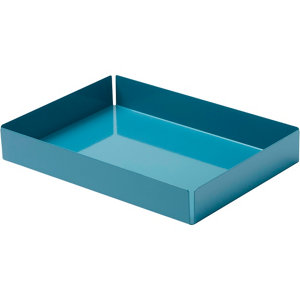 Image of GoodHome Amantea Stainless steel Blue Tray