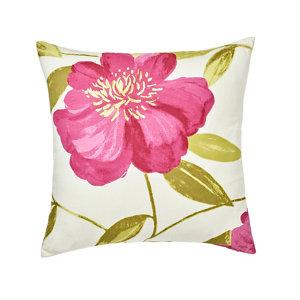 Louga Floral Green  pink & white Cushion (L)45cm x (W)45cm