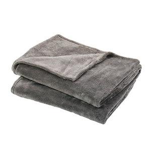 Image of Lulu Grey Plain Fleece Throw