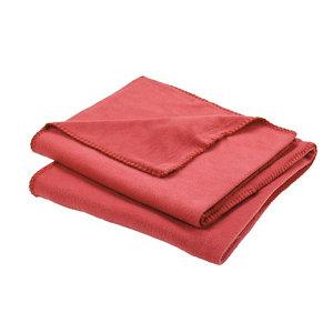 Image of Fleece Red Plain Fleece Throw