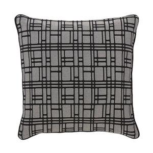 Image of Basalt Square Black & grey Cushion