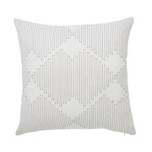 Image of Beryl Geometric Grey & white Cushion