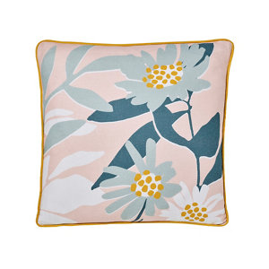 Image of Cabochon Floral Multicolour Cushion