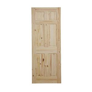 Image of 6 panel Knotty pine LH & RH Internal Door (H)1981mm (W)686mm