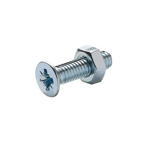 Image of Diall M4 Carbon steel Countersunk Machine screw & nut (L)16mm Pack of 20