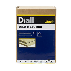Diall Round wire nail (L)40mm (Dia)2.2mm  Pack