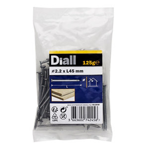 Diall Round wire nail (L)45mm (Dia)2.2mm  Pack