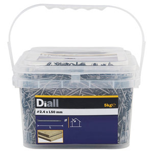 Diall Round wire nail (L)50mm (Dia)2.4mm  Pack