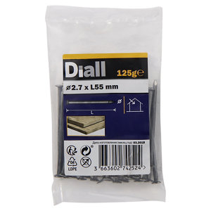 Diall Round wire nail (L)55mm (Dia)2.7mm  Pack