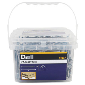 Image of Diall Round wire nail (L)100mm (Dia)4.5mm 5kg Pack