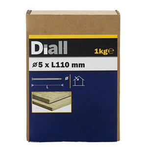 Image of Diall Round wire nail (L)110mm (Dia)5mm 1kg Pack