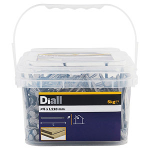 Image of Diall Round wire nail (L)110mm (Dia)5mm 5kg Pack