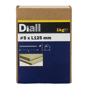 Image of Diall Round wire nail (L)125mm (Dia)5mm 1kg Pack