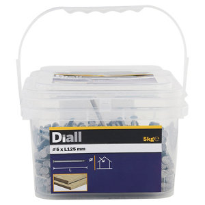 Image of Diall Round wire nail (L)125mm (Dia)5mm 5kg Pack